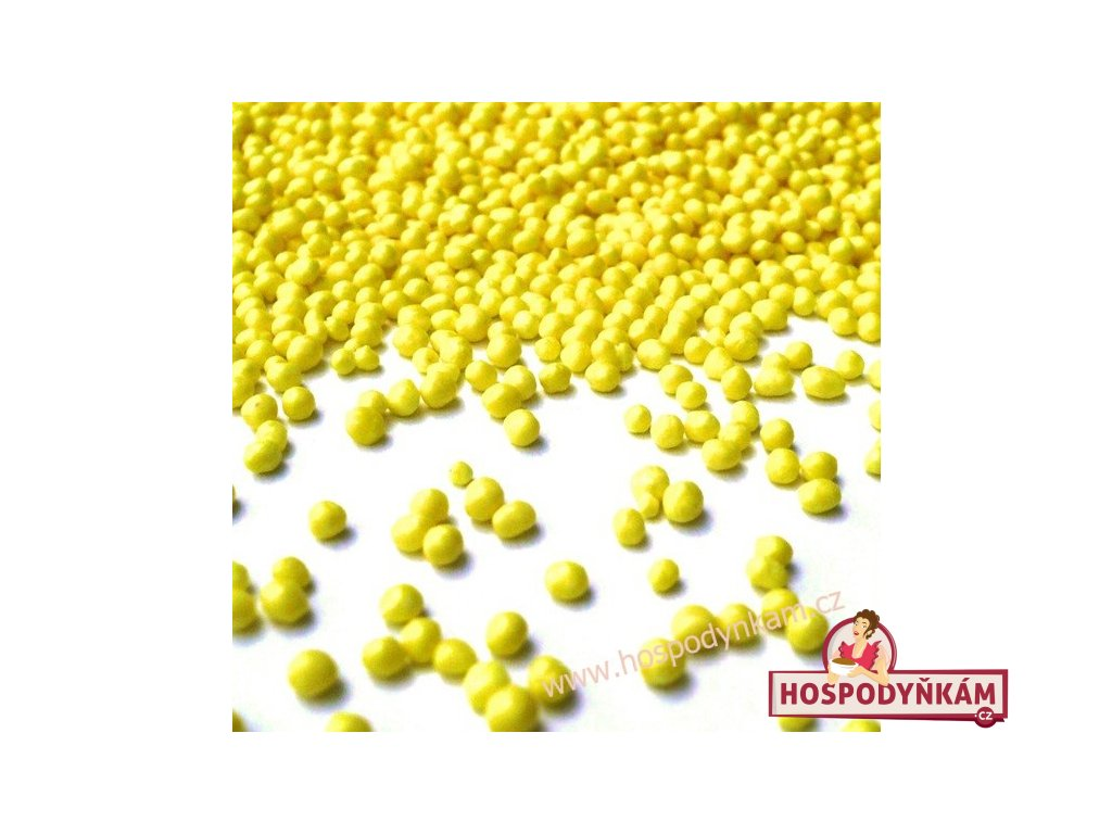 Cukrové zdobení - žlutý máček 40g