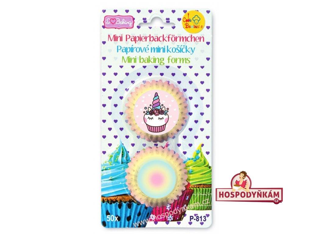 Cukrářské mini košíčky Jednorožec