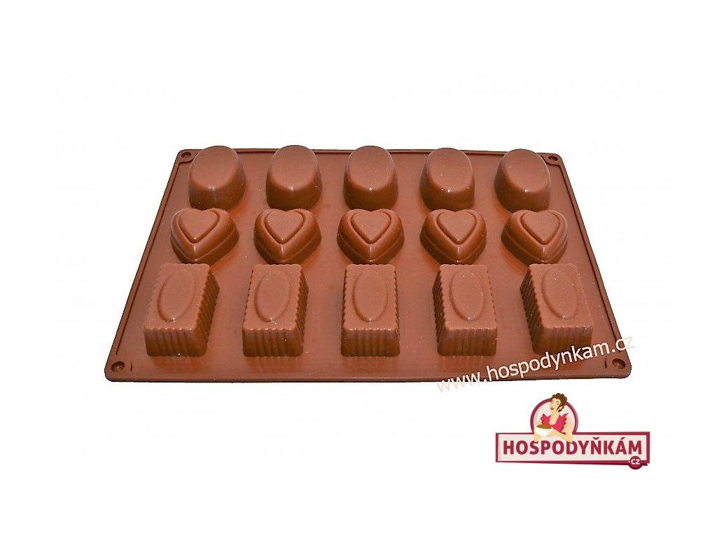 Alvarak Silikonová forma na čokoládu 3 tvary