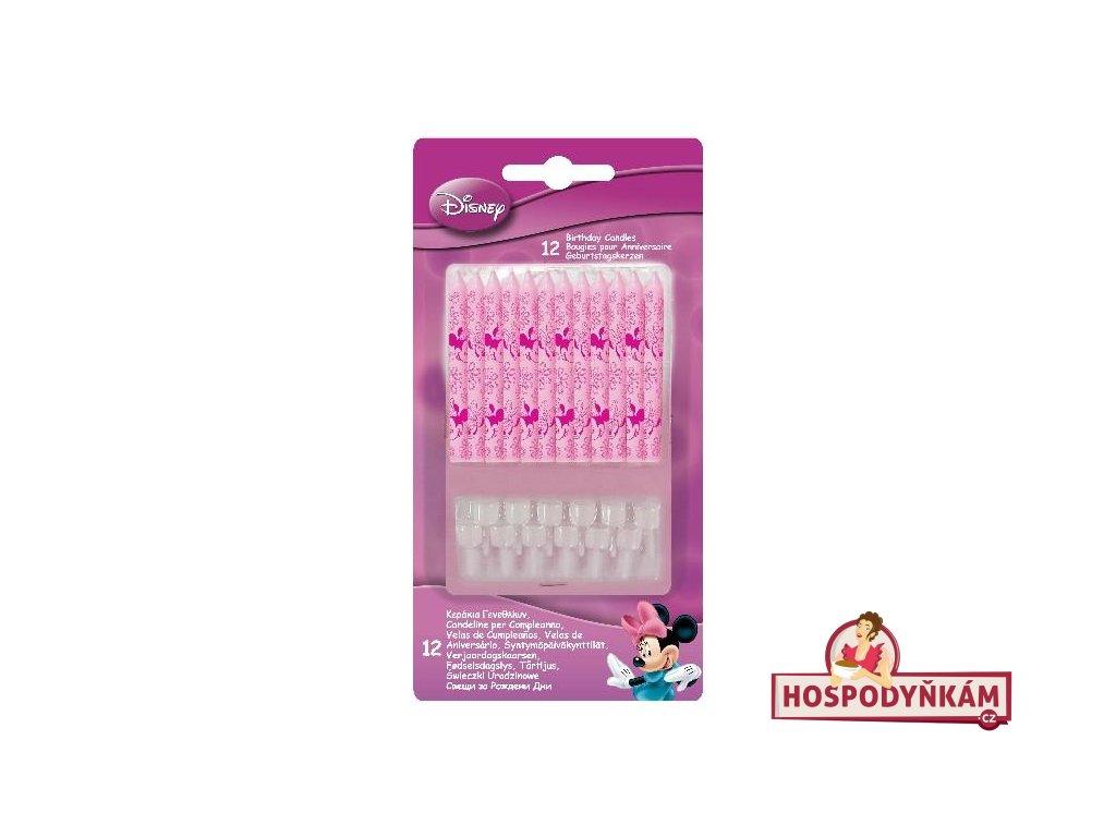 Dortové svíčky Minnie Mouse