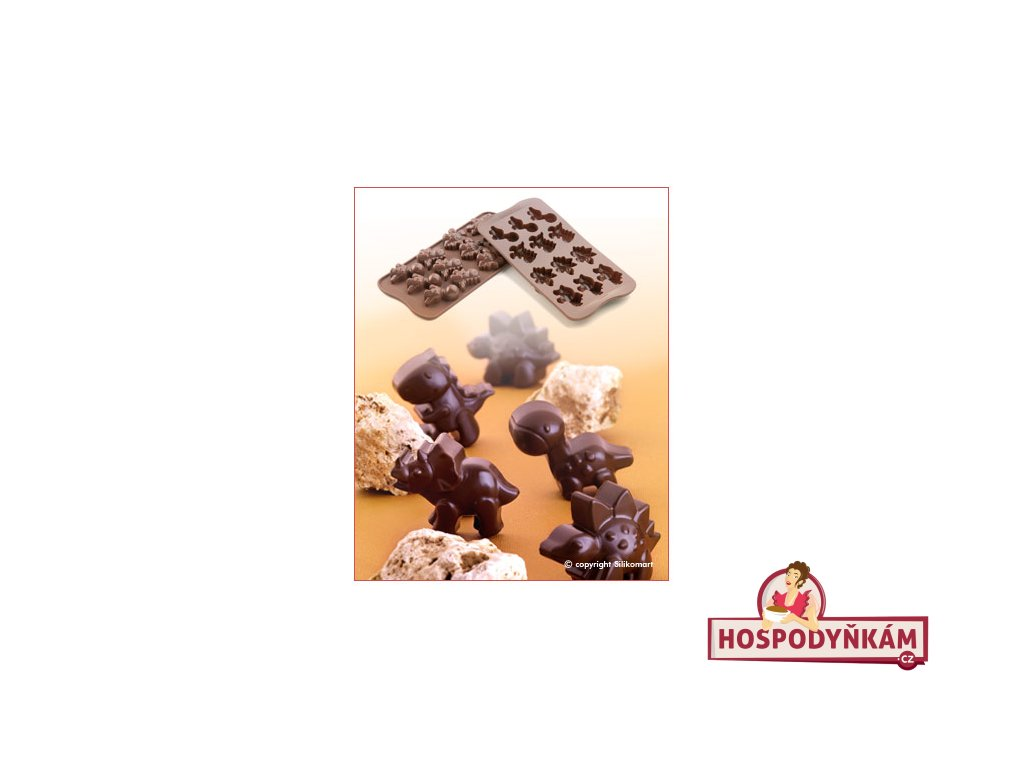 Silikonová forma na čokoládu Dino
