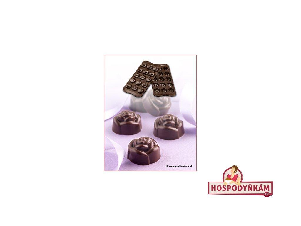 Silikonová forma na čokoládu Rose