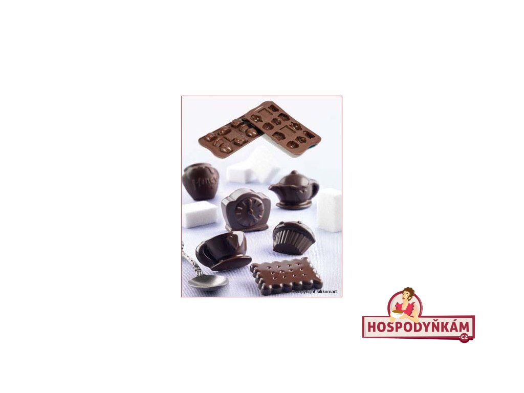 Silikonová forma na čokoládu Tea Time