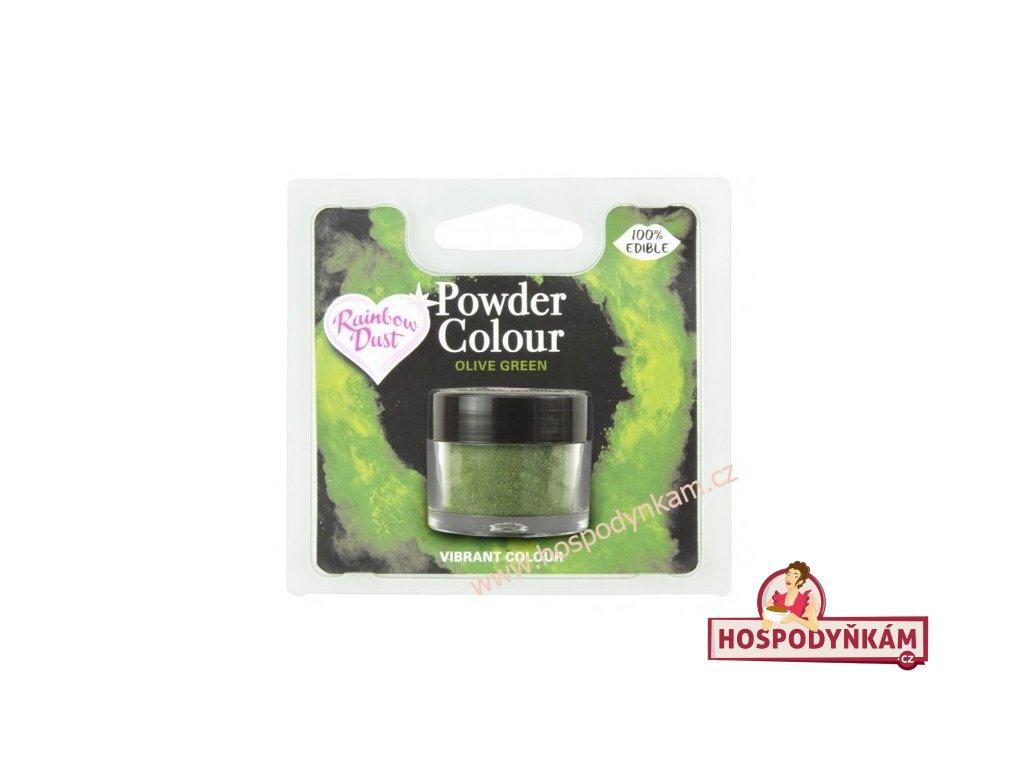 Prachová barva Olive Green