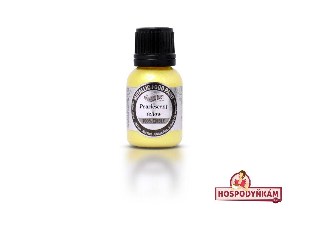Tekutá barva Pearlescent Yellow