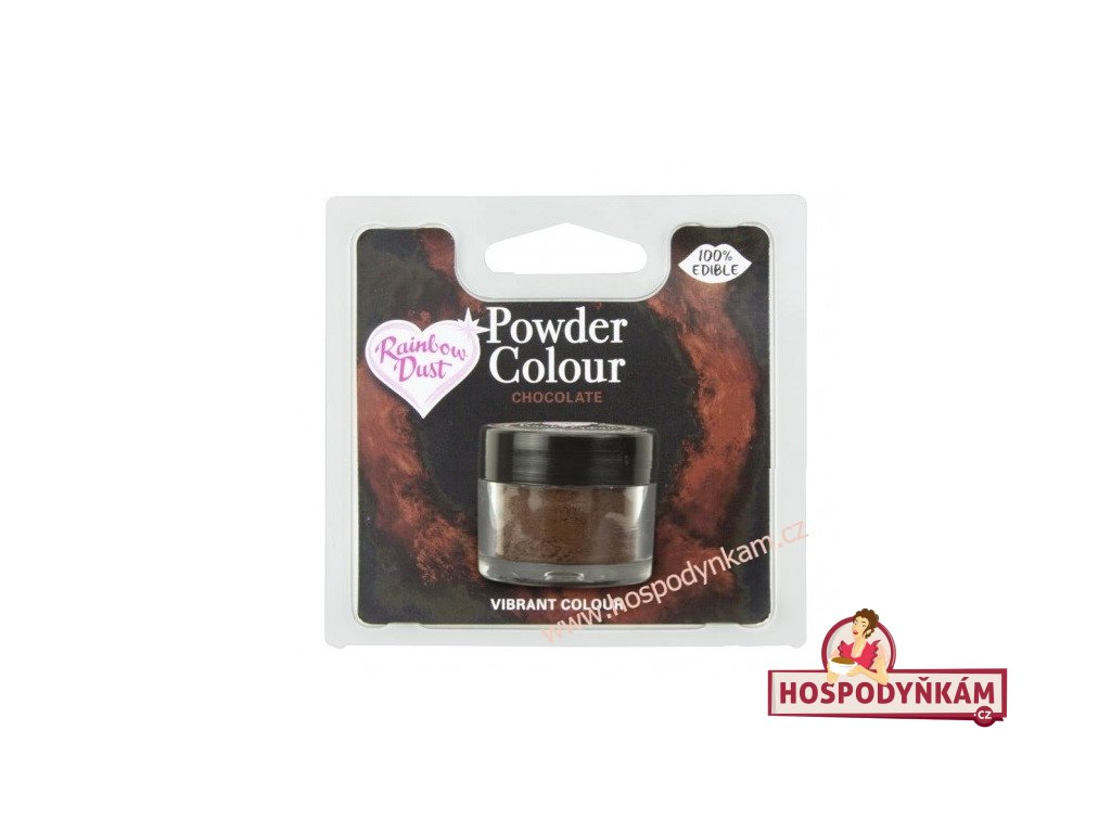 Prachová barva Chocolate