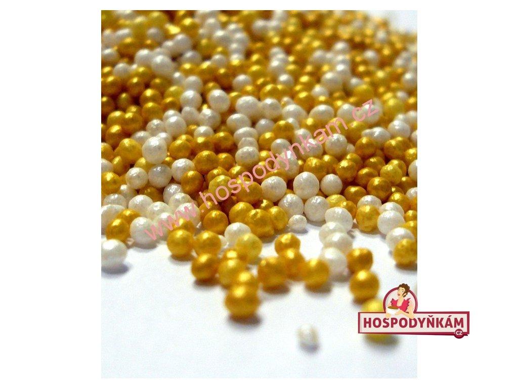 Cukrový máček zlato a perleť 40g