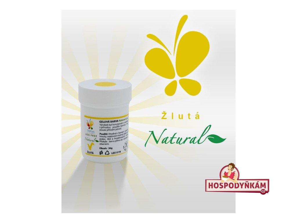 Přírodní gelová barva žlutá (azofree)