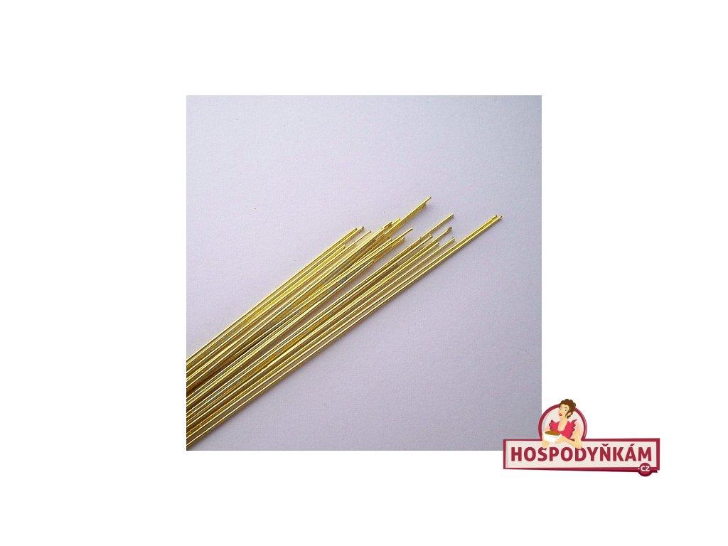 Aranžovací drátky zlaté 24 gauge