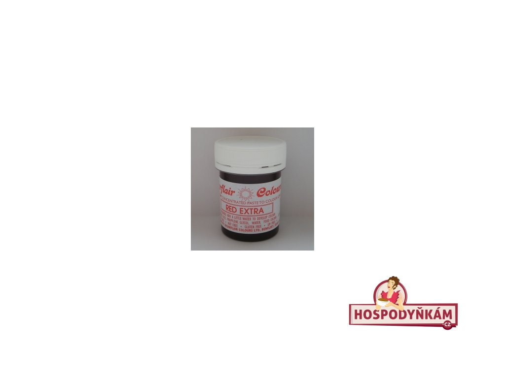 Gelová barva Sugarflair - Red extra