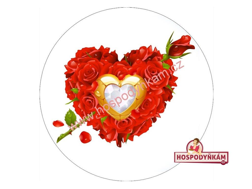 Jedlý papír srdce z růží