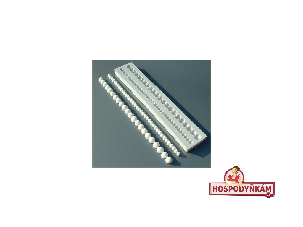 Silikonová forma na marcipán - perličky