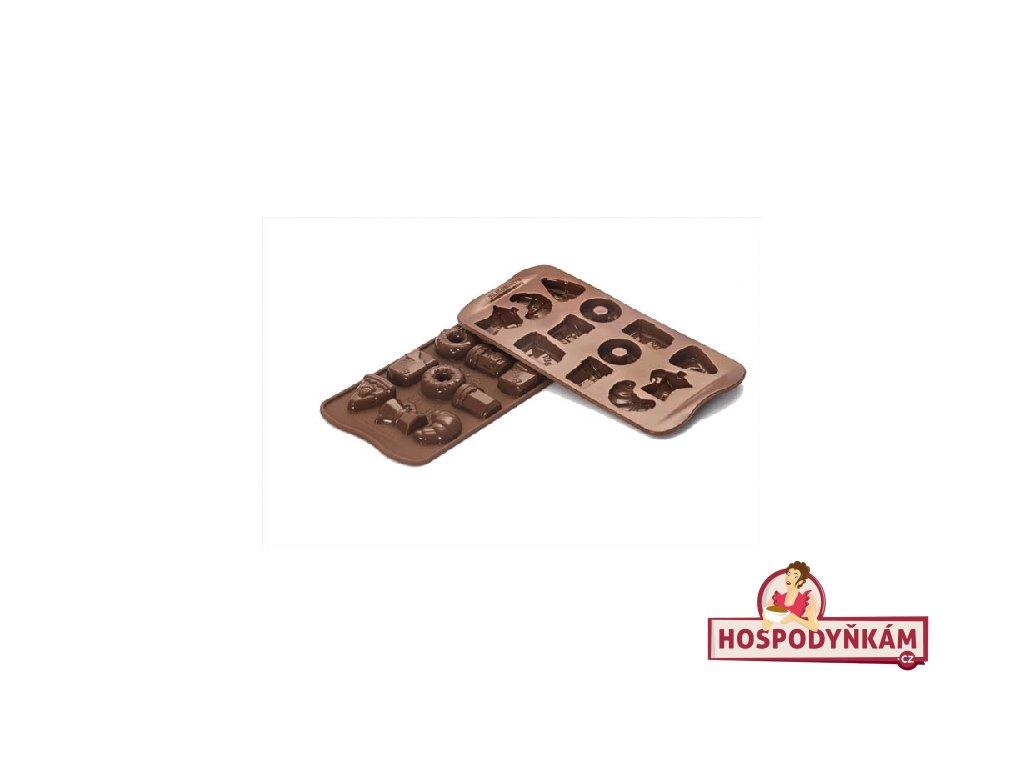Silikonová forma na čokoládu Good Morning