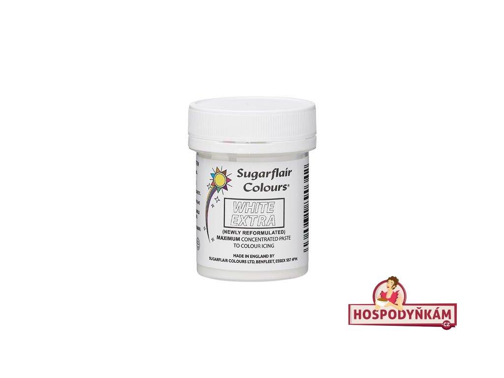 Gelová barva Sugarflair Extra White 42g