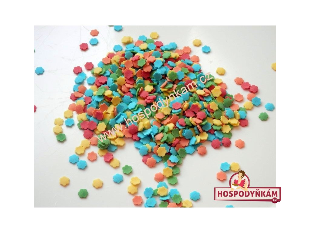 Cukrové zdobení - kytičky 50g