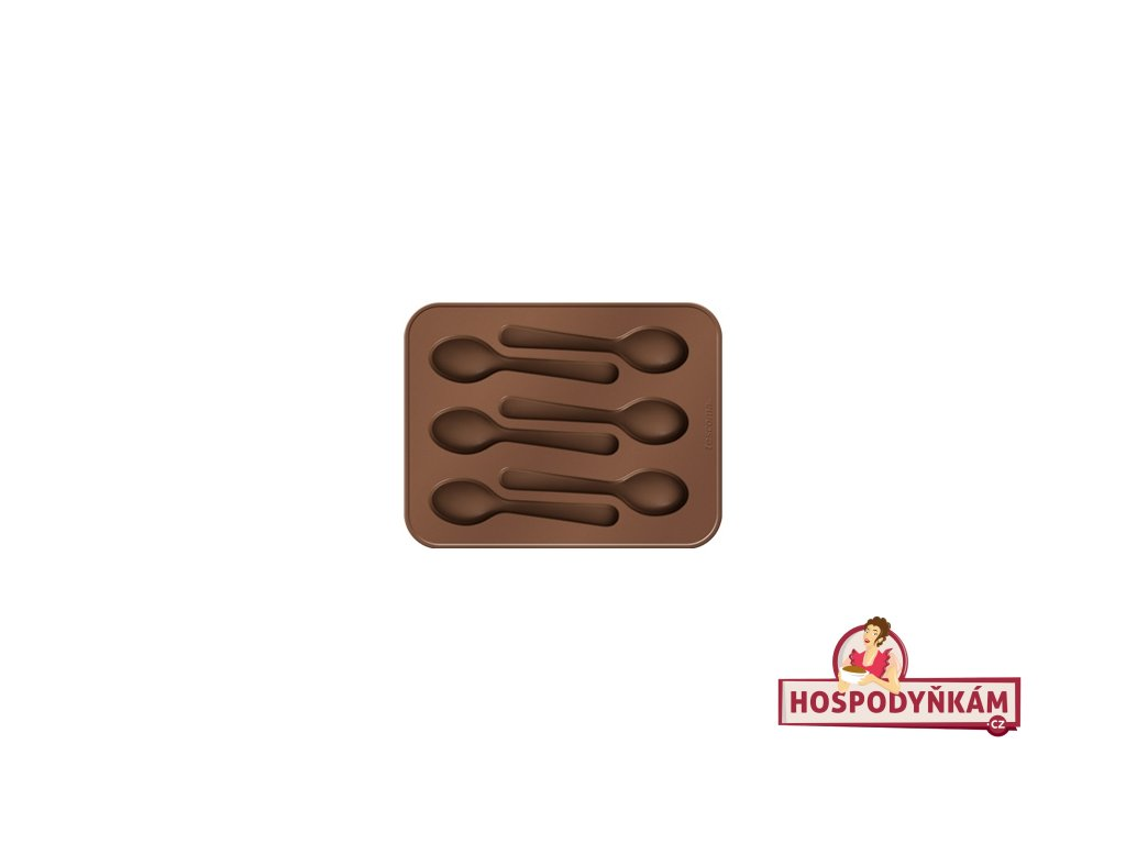 Silikonová forma na čokoládu Tescoma, lžičky