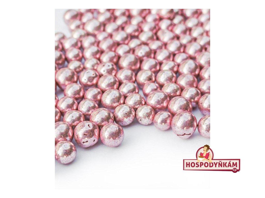 Cukrové zdobení perličky růžové 40g