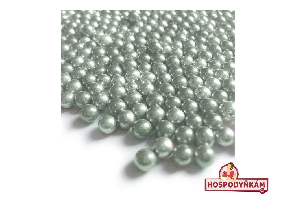 Cukrové zdobení - perličky zelené 40g