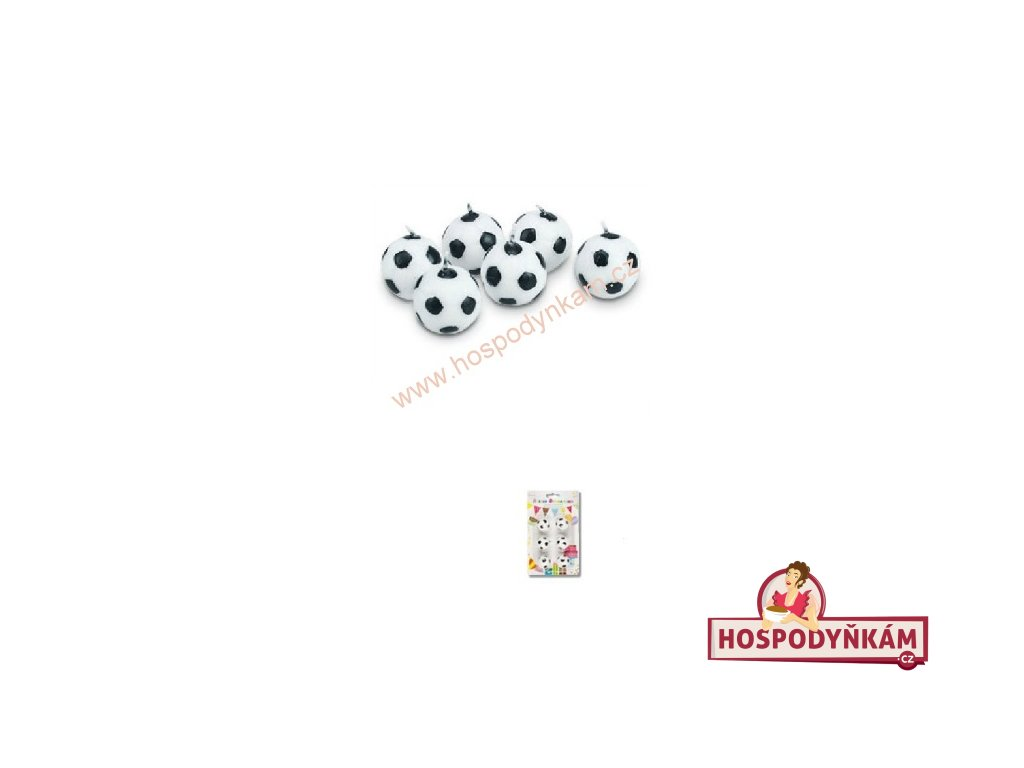 Dortové svíčky - fotbalový míč