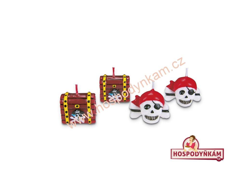 Dortové svíčky - pirát