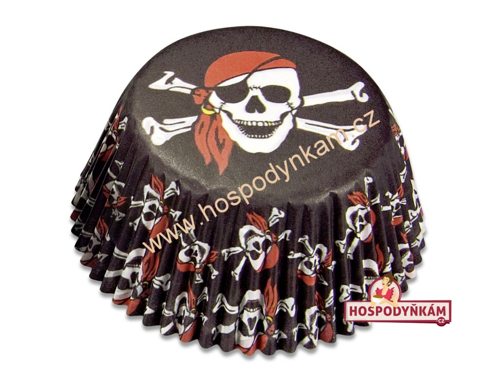 Cukrářské košíčky na pečení pirát