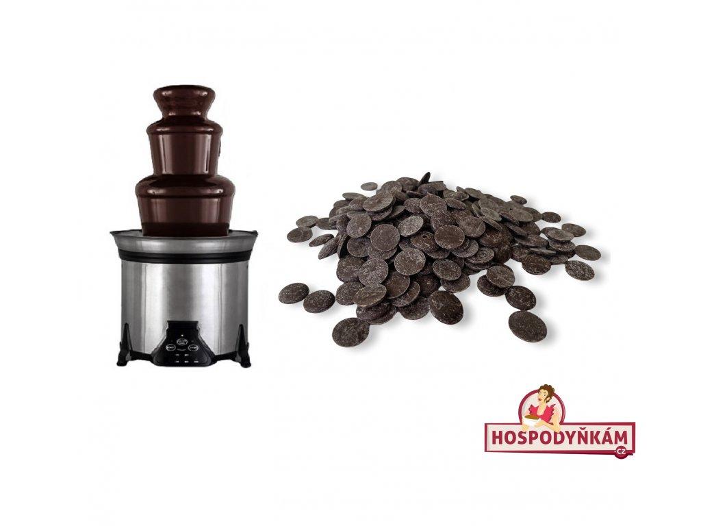 Čokoláda do fontány - hořká 250g