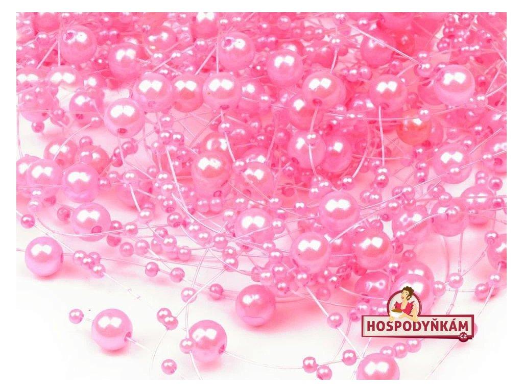 Perličky světle růžové