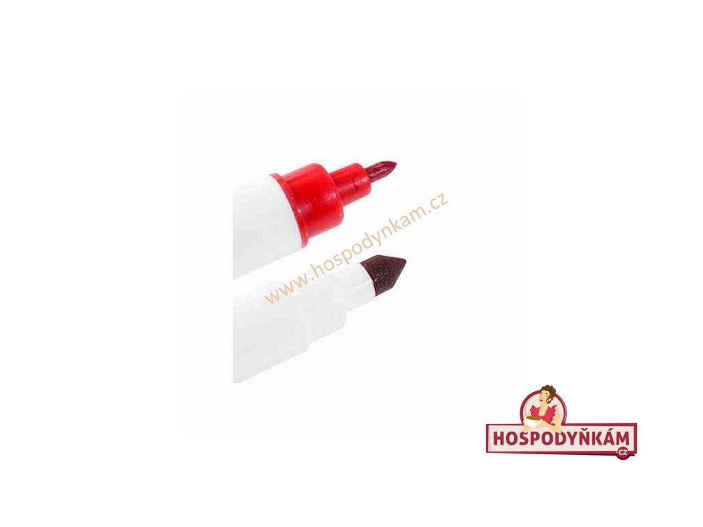 Jedlý fix Modecor, oboustranný červený