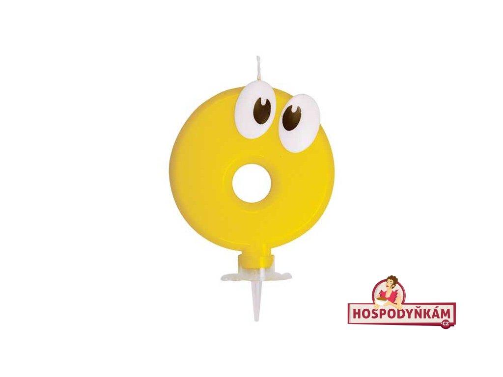 Dortová svíčka číslice 2, bílo-zlatá
