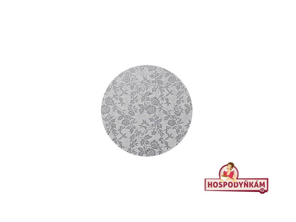 Stříbrný tác Modecor, kruh 30cm