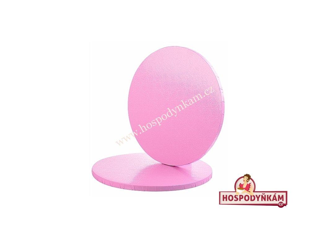 Kartonový tác růžový kruh 30cm