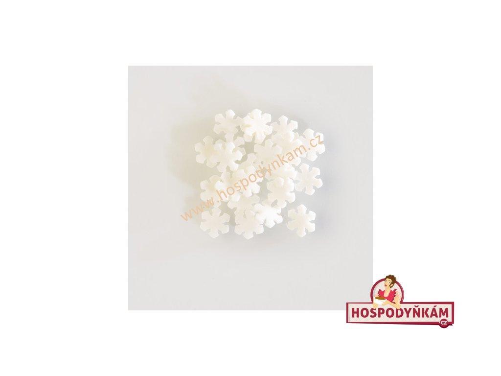 Cukrové zdobení - bílé sněhové vločky 30g