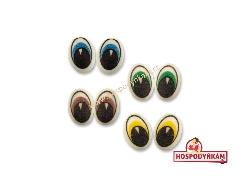 Cukrové zdobení - velké oči 16ks