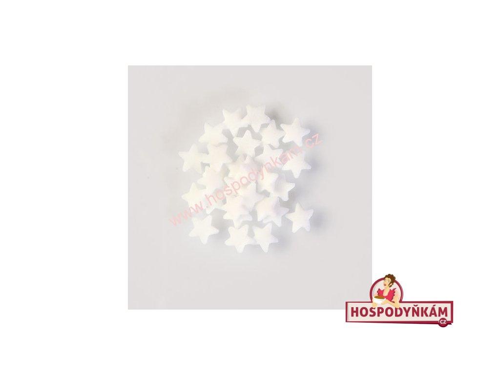Cukrové zdobení - hvězdičky bílé 30g