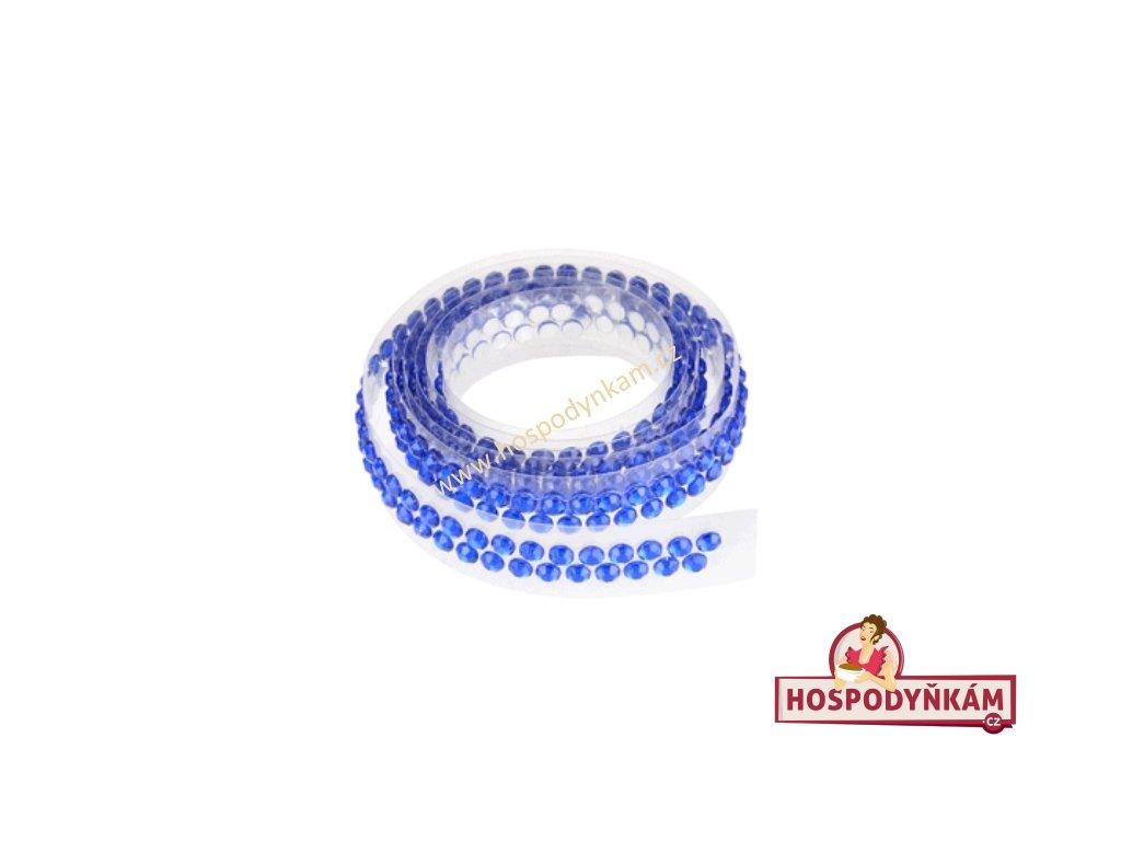 Ozdobný pás na dort modrý