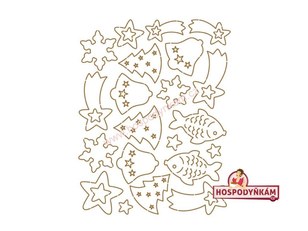 Jedlý papír Vánoční oplatky