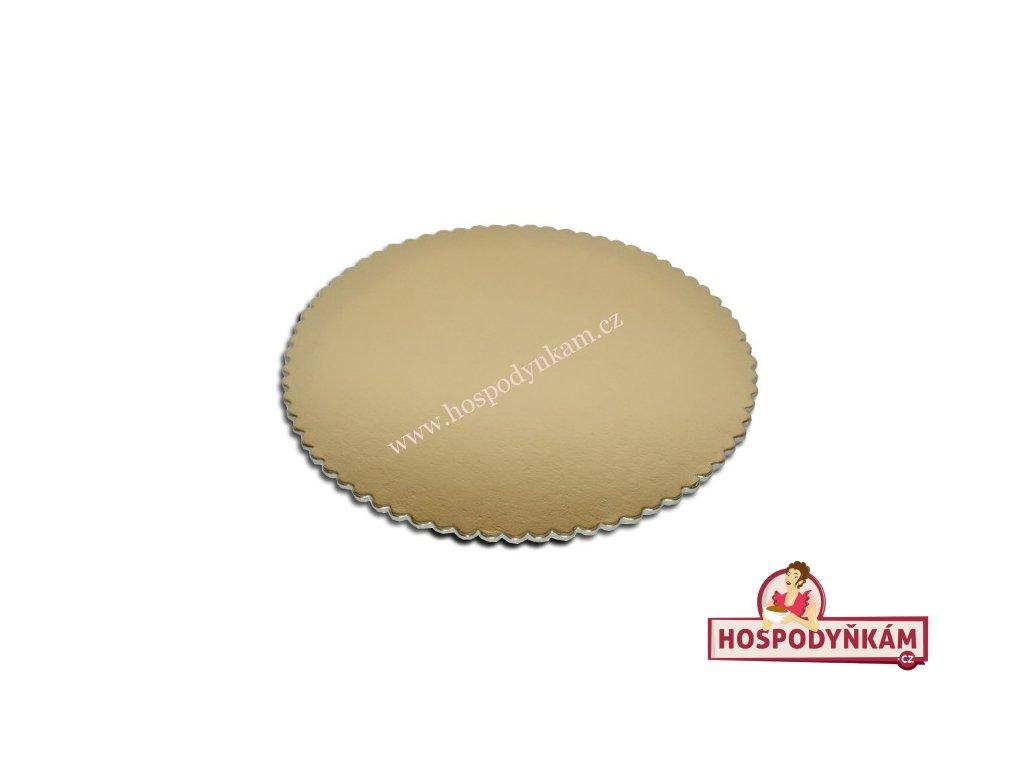 Tác na dort kartonový zlatý 30cm