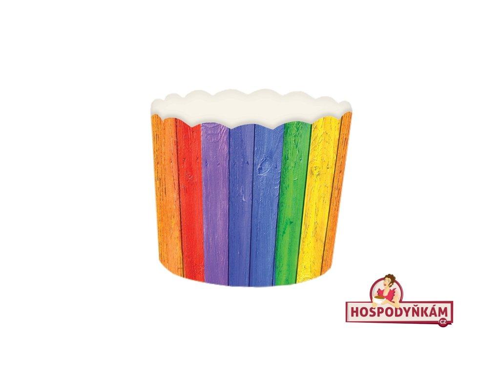 Samonosné košíčky na pečení Efekt barevného dřeva