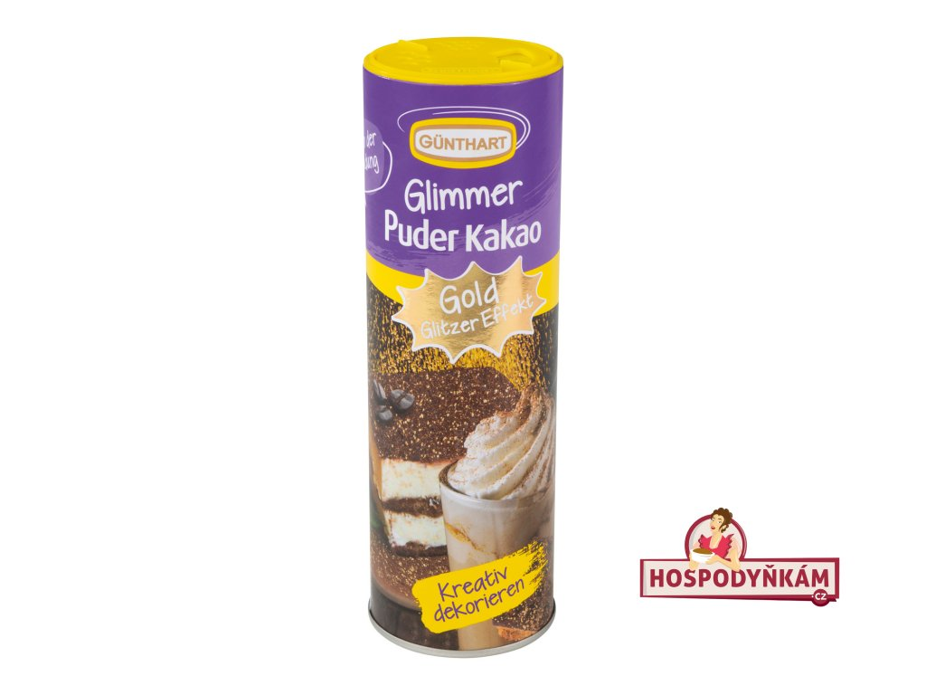 Kakaový prášek třpytivý zlatý