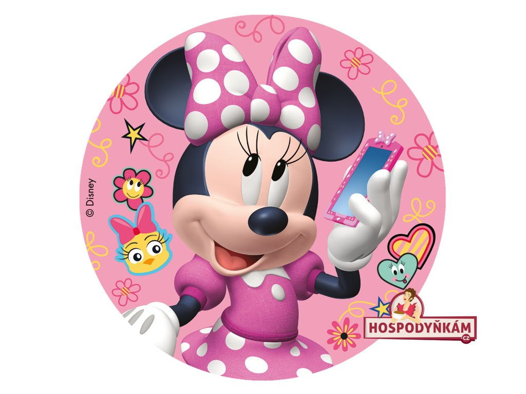 Fondánový obrázek Minnie Mouse 16cm
