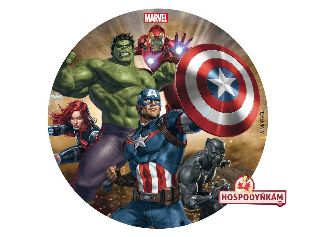 Fondánový obrázek Avengers 16cm