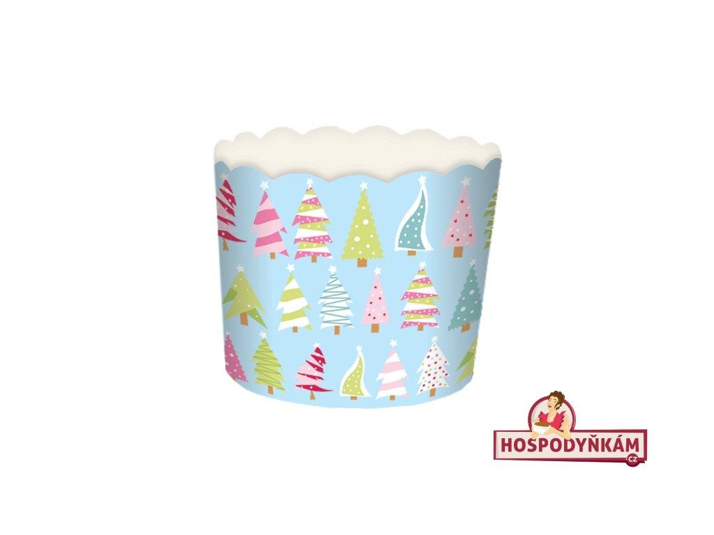 Samonosné košíčky na pečení s vánočními stromky