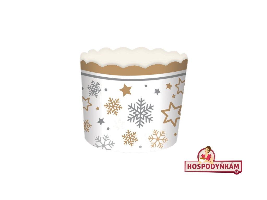 Samonosné košíčky na pečení s vánočními vločkami