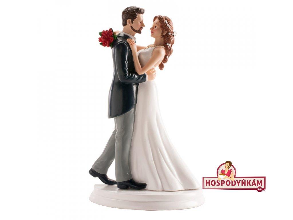 Figurka na dort nevěsta a ženich tančící valčík