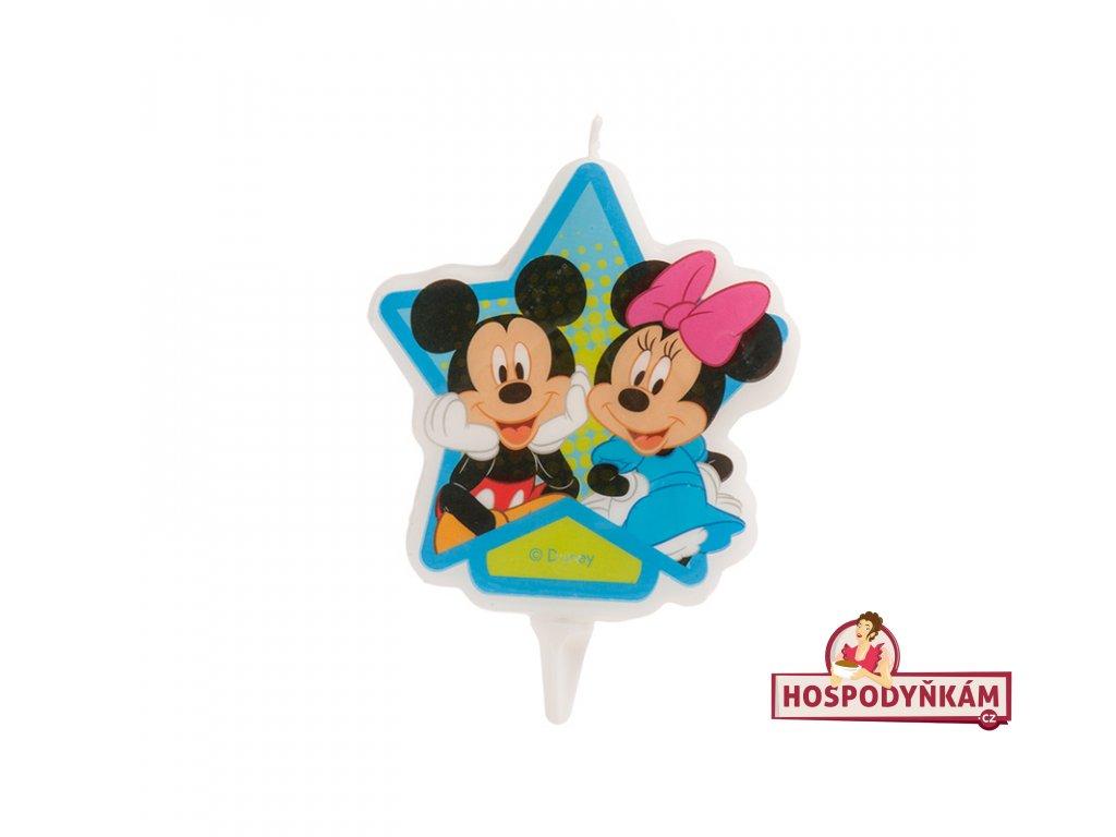 Dortová svíčka Mickey a Minnie Mouse