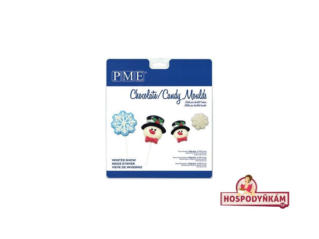 PME Forma na čokoládu Winter Snow