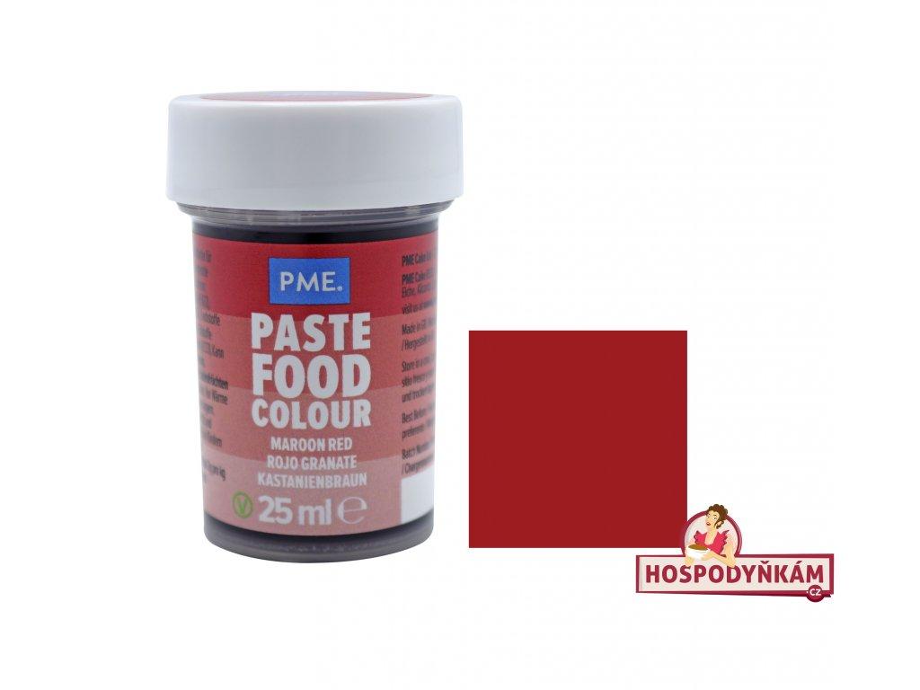 Gelová barva PME Mroon Red