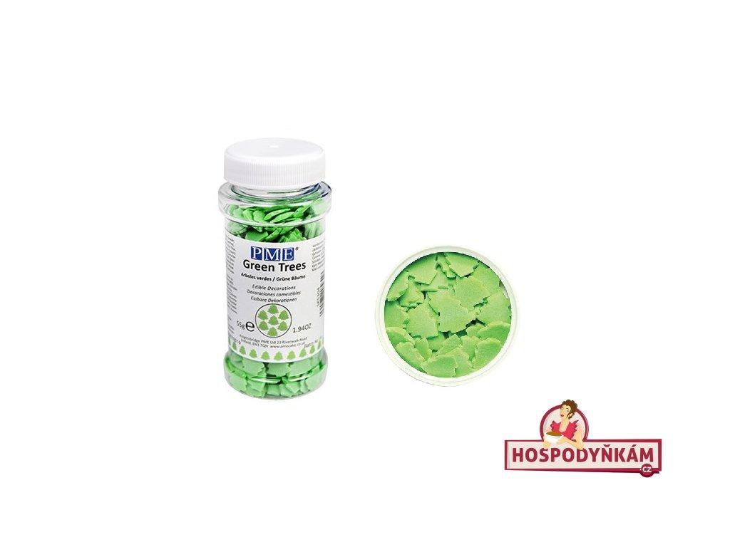 Cukrové zdobení PME zelené stromečky 55g