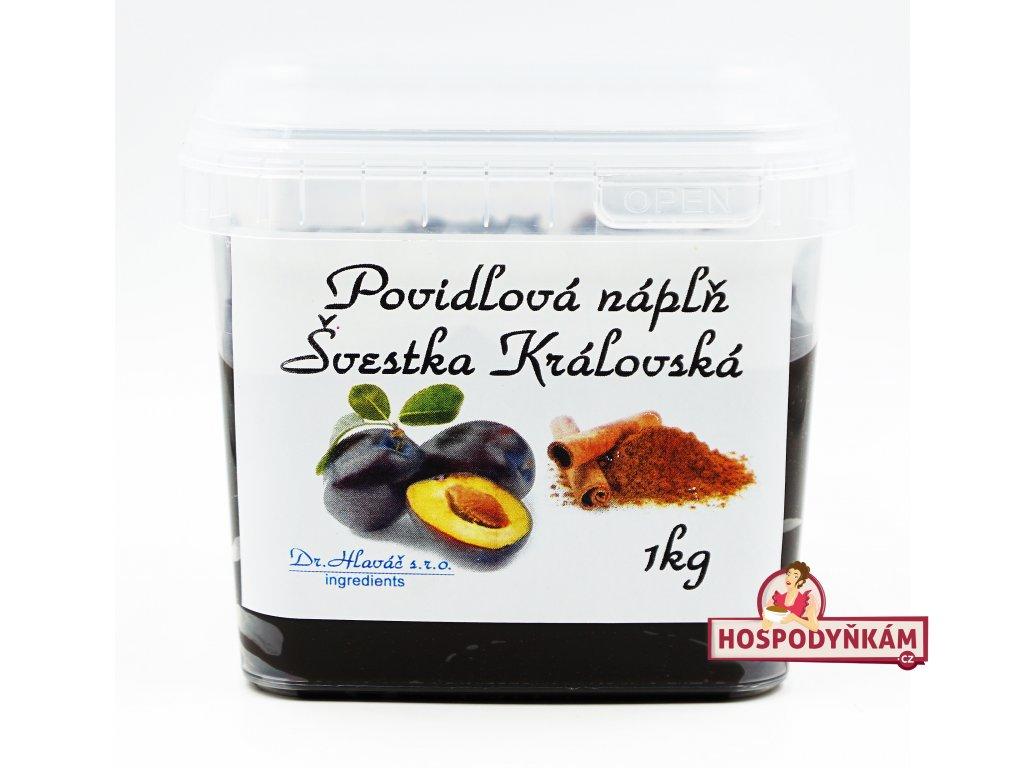 Povidlová náplň Švestka královská skořice a rum 1kg (termostabilní)