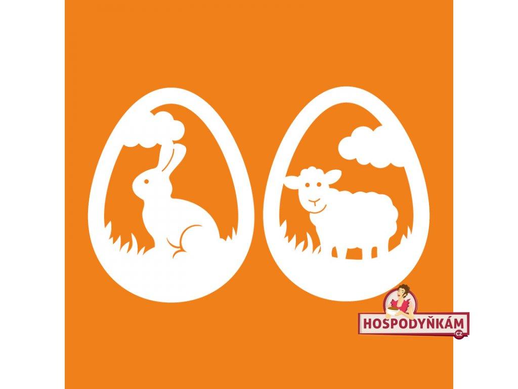 Jedlý papír Velikonoční zajíček a beránek v kraslici 25ks